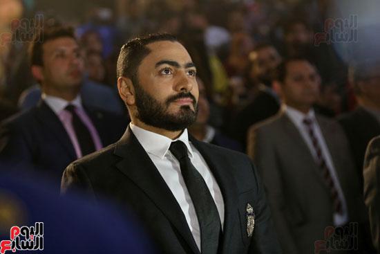 حفل وزارة الشباب لتكريم تامر حسنى بعد دخوله موسوعة جينيس (2)
