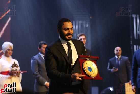 حفل وزارة الشباب لتكريم تامر حسنى بعد دخوله موسوعة جينيس (31)