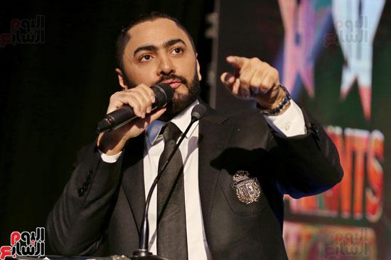 حفل وزارة الشباب لتكريم تامر حسنى بعد دخوله موسوعة جينيس (9)