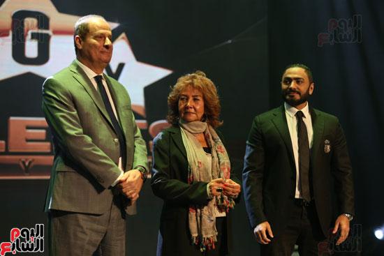 حفل وزارة الشباب لتكريم تامر حسنى بعد دخوله موسوعة جينيس (22)