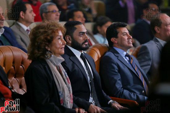 حفل وزارة الشباب لتكريم تامر حسنى بعد دخوله موسوعة جينيس (3)