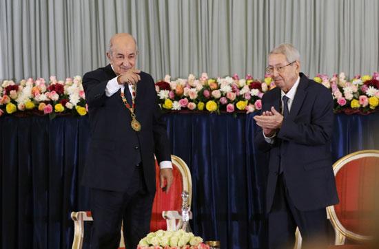 الرئيس-الجزائري-المنتخب-عبد-المجيد-تبون-خلال-حفل-أداء-اليمين-فى-الجزائر