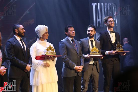 حفل وزارة الشباب لتكريم تامر حسنى بعد دخوله موسوعة جينيس (29)