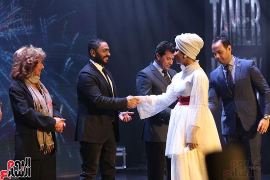 حفل وزارة الشباب لتكريم تامر حسنى بعد دخوله موسوعة جينيس (24)