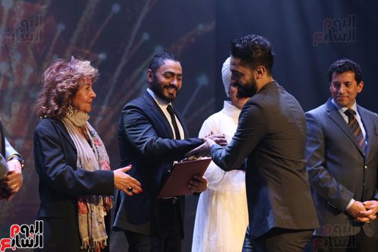 حفل وزارة الشباب لتكريم تامر حسنى بعد دخوله موسوعة جينيس (26)