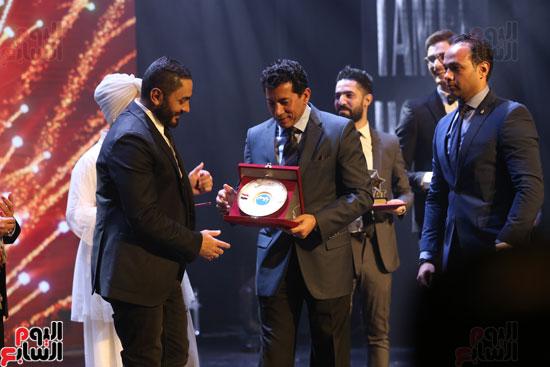 حفل وزارة الشباب لتكريم تامر حسنى بعد دخوله موسوعة جينيس (30)