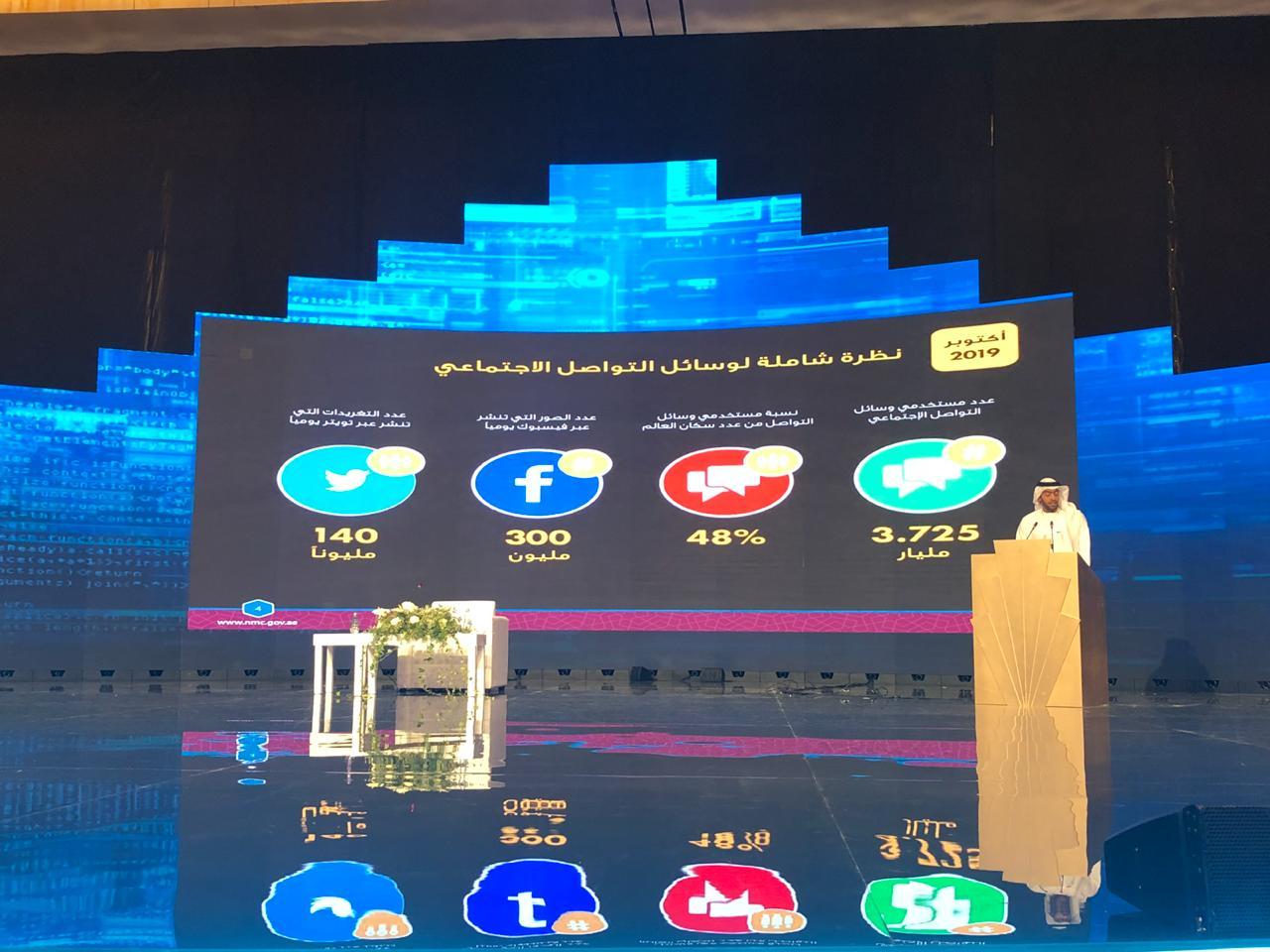منصور المنصورى مدير عام المحلس الوطنى للإعلام بالإمارات بالمنتدى