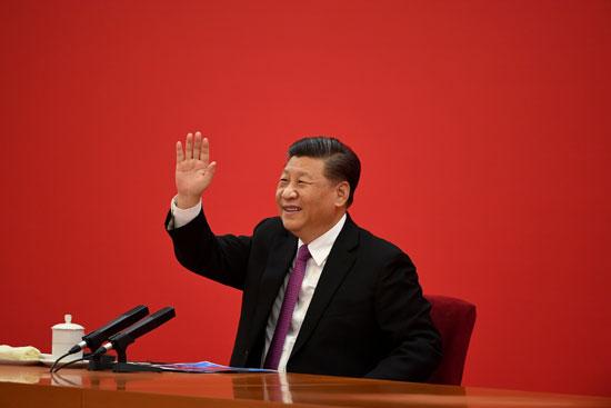 الرئيس-الصينى-يقدم-التحية-لنظيره-الروسى