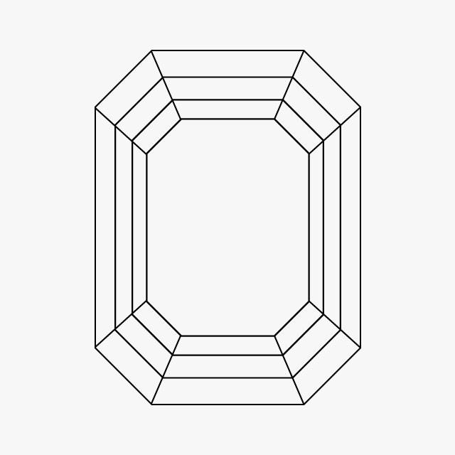 خاتم الزمرد ذو القطعة المطولة
