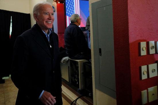 جو بايدن عقب انتهاء كلمته