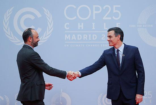 بيدرو سانشيز يرحب برئيس الوزراء الفرنسى إدوارد فيليب