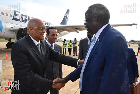 على عبد العال يصل جوبا لبحث العلاقات الثنائية بين مصر وجنوب السودان (7)