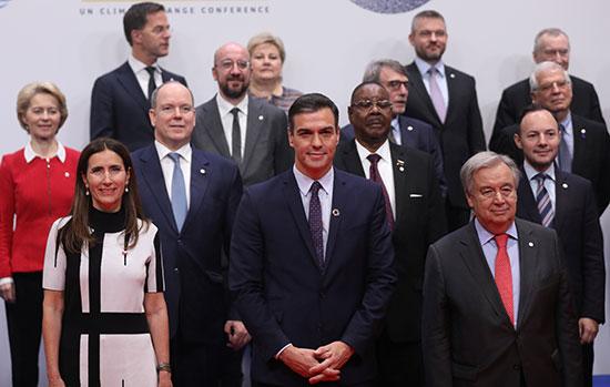القادة المشاركين فى قمة تغير المناخ