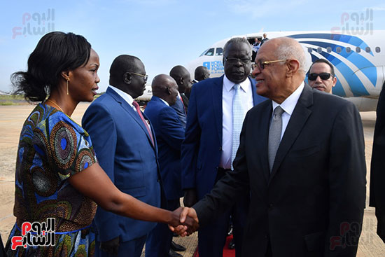 القيادات البرلمانيه بجنوب السودان تستقبل عبد العال