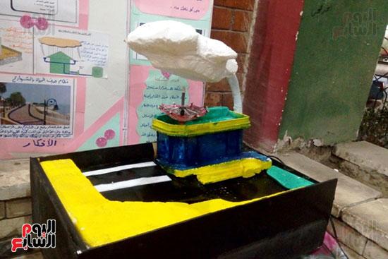 مجسم لمشروع الحافظ علي مياة الامطار