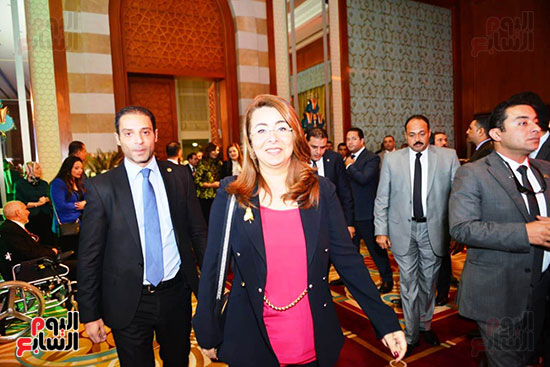 غادة والى وزيرة التضامن فى الاحتفال