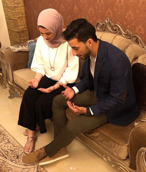 محمد سالم وخطيبته