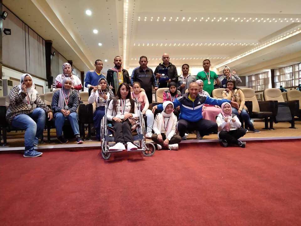 أبناء جامعة أسيوط من ذوي الهمم يحرزون 21 ميدالية متنوعة (4)