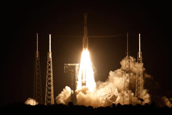 انطلاق الصاروخ من مركز الاطلاق