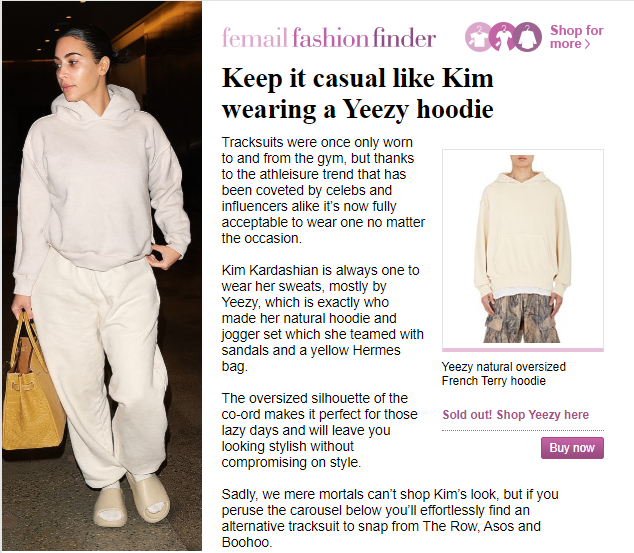 كيم كاردشيان ترتدى من أزياء العلامة التجارية لزوجها