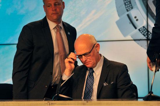 مؤتمر ناسا للإعلان عن فشل التجربة