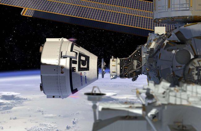 تصور لالتحام مركبة بوينج مع محطة الفضاء الدولية