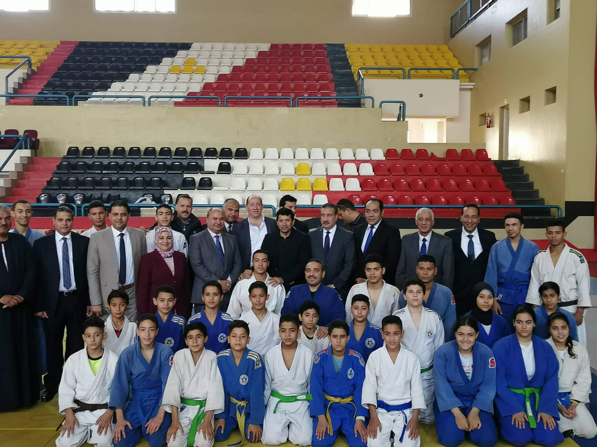 وزير الشباب يتابع عروض الجودو والمصارعة (3)