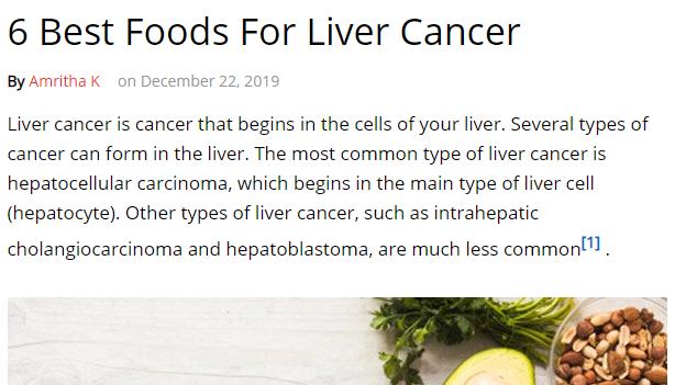 6 اطعمة مفيدة لمرضى سرطان الكبد
