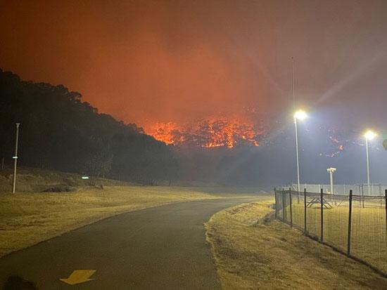 اشتداد حدة الحرائق