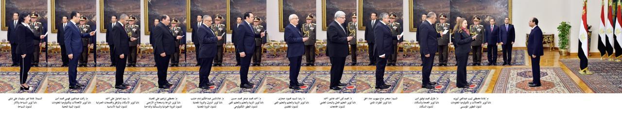 الوزراء والنواب الجدد يؤدون اليمين الدستورية