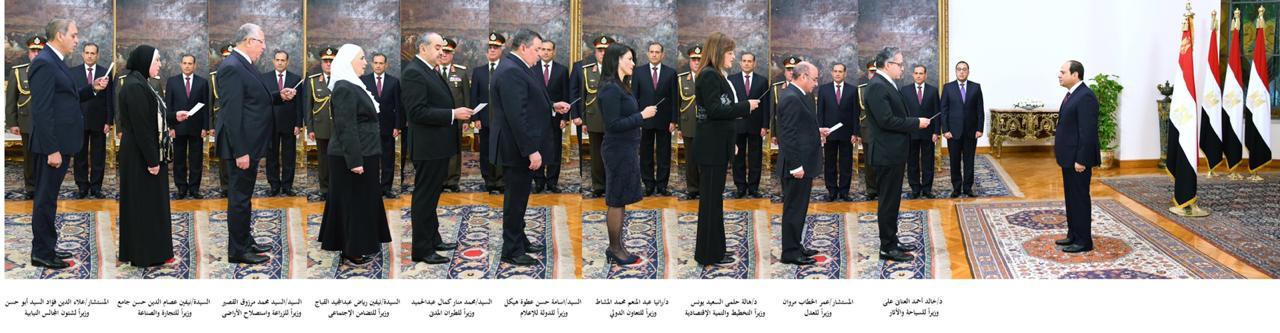 الوزراء والنواب الجدد يؤدون اليمين الدستورية 1