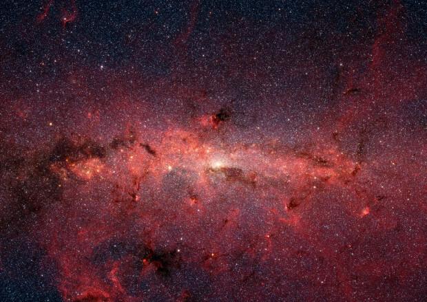 النجوم وسط مجرة درب التبانة