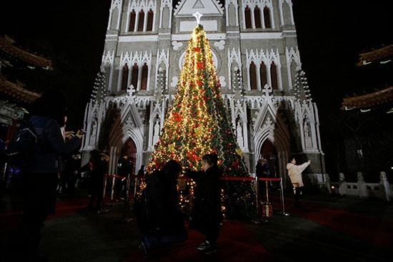 شجرة عيد الميلاد فى كاتدرائية شيشيكو