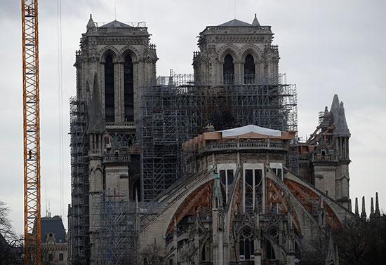 أعمال ترميم كاتدرائية فرنسا