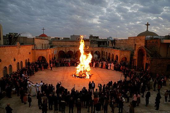 الكنيسة العظيمة الطاهرة في الحمدانية بالقرب من الموصل بالعراق