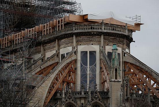 أعمال التطوير فى الكاتدرائية الفرنسية