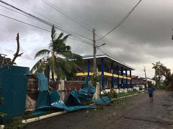 أثار الإعصار