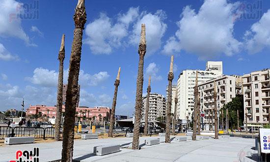 رئيس الوزراء يتفقد أعمال تطوير ميدان التحرير (7)