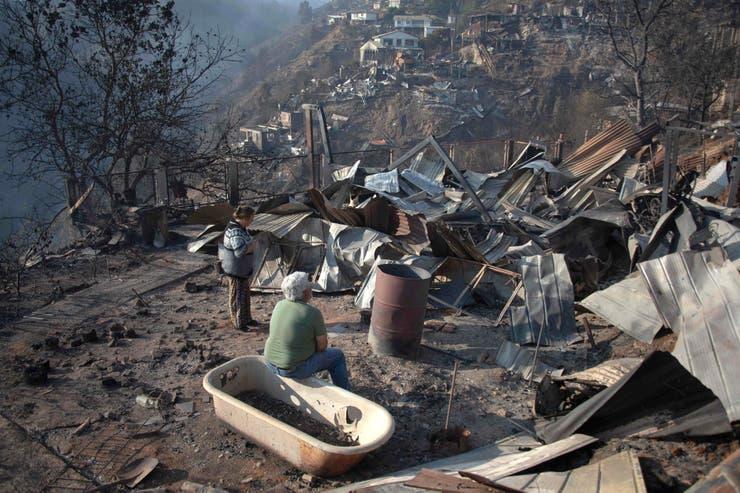 حرائق الغابات فى تشيلى