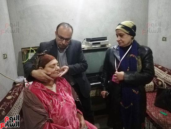 الحكومة تستجيب لاستغاثة سيدة لإجراء مسح ذرى لإصابتها بالسرطان  (1)