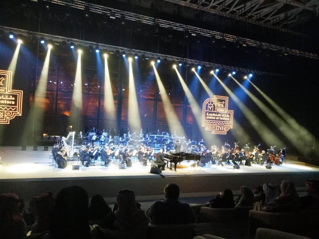 حفل الموسيقار الكبير عمر خيرت بمهرجان شتاء طنطورة فى السعودية (3)