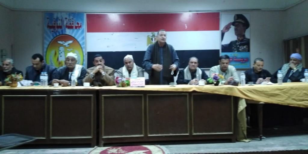 جلسة صلح بين عائلتين بإحدى قرى مركز تلا  (3)