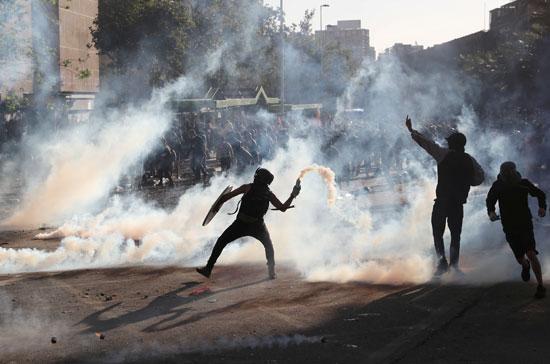 تظاهرات تشيلى