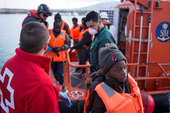 انقاذ المهاجرين