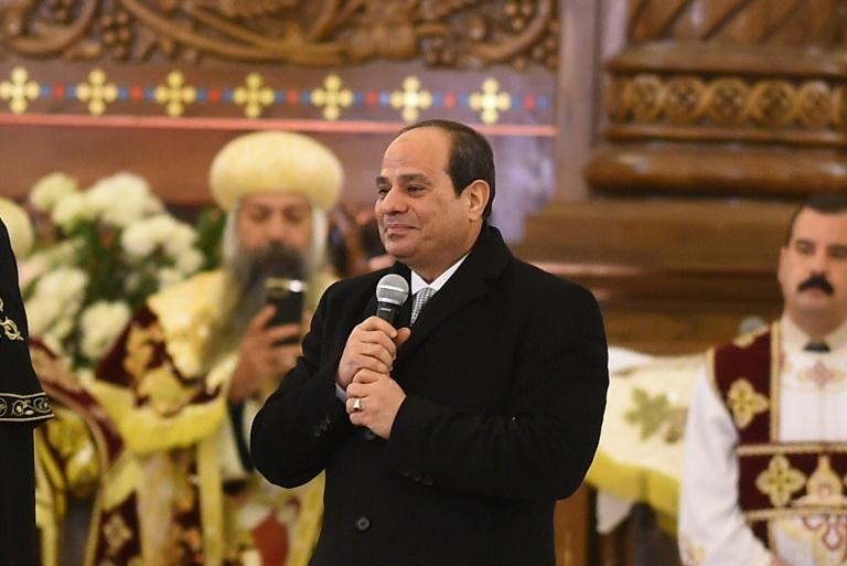 الرئيس السيسى داخل الكاتدرائية
