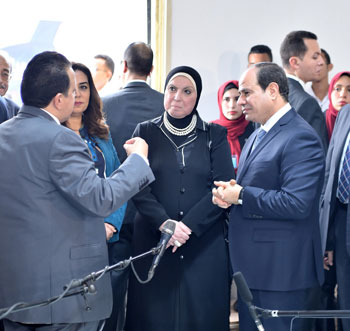 السيسي في افتتاح مدينة دمياط للأثاث ومشروعات قومية (13)