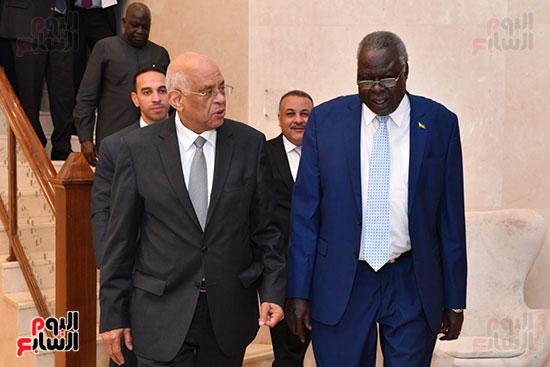 عبد العال يلتقى رئيس المجلس التشريعى الانتقالى بالإنابة بجنوب السودان (14)