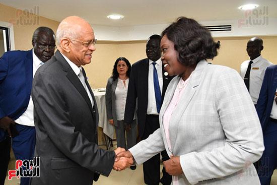عبد العال يلتقى رئيس المجلس التشريعى الانتقالى بالإنابة بجنوب السودان (7)