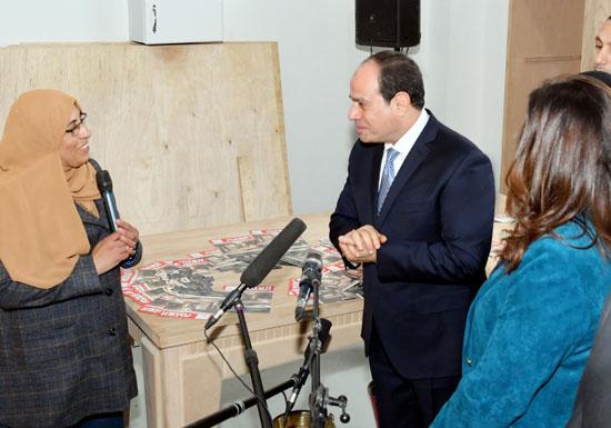 السيسي في افتتاح مدينة دمياط للأثاث ومشروعات قومية (4)