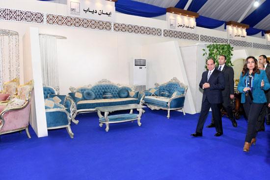 السيسي في افتتاح مدينة دمياط للأثاث ومشروعات قومية (6)